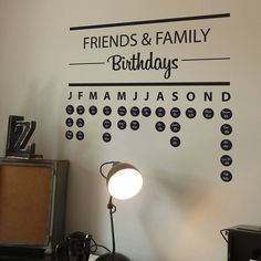 Birthday Planner Wall Sticker! Now that I need!!