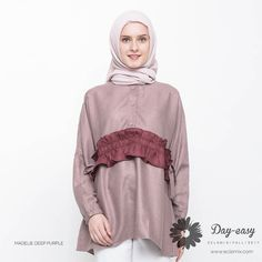 Madelie in deep purple for this #weekend ? Sounds like a good idea.. shop this look exclusive at www.eclemix.com . Have a nice weekend ladies :) . #eclemix #myeclemix #fashion #hijab #hijabfashion #ootd #bandung #localbrandindonesia