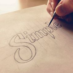 Hand lettering - Simple Sketch by Sean McCabe Graffiti Lettering, Typography Letters, Lettering Design, Calligraphy Words, Modern Calligraphy, Sean Mccabe, Schrift Design, Typographie Inspiration, Letter Art