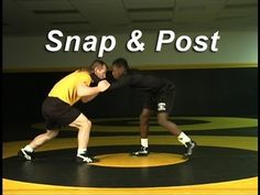 Snap and Post Setup KOLAT.COM Wrestling Techniques Moves Instruction
