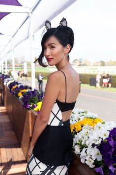 Checking-in from Melbourne - Nicole Warne wear Manning Cartell Dress / Viktoria Novak Ears / Nine West Heels / Catanach Gold Rings