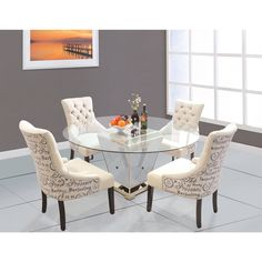Best Master Furniture YJ001 5 Pieces Dining Set