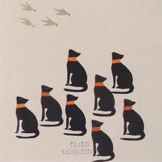 Koloman Moser - 1904: Bilderbuch für die Nichte von Ditha Mautner von Markhof Flieg Voglein, fly little bird