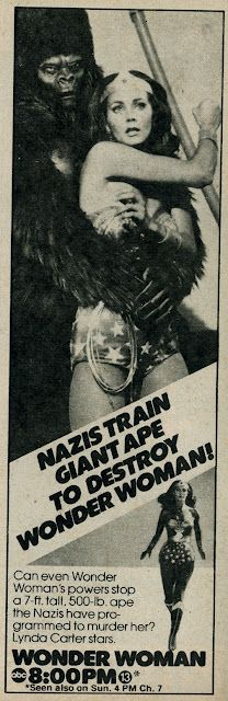 "dogisland: "" Nazis, a giant ape, Wonder Woman!!! TV doesn't get any better than this!!! """