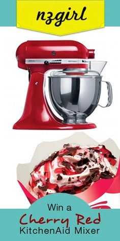 Win a Cherry Red KitchenAid Mixer  Win a Cherry Red KitchenAid Mixer  #Win #Competition #Cherry #Red #KitchenAid #Artisan #Mixer #Ripe #McDonald #McFlurry