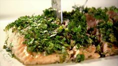 Roasted Salmon with Green Herbs Recipe | Ina Garten | Food Network