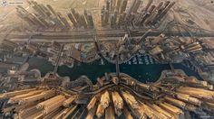 Dubai, UAE from sky. It seems like SF city.