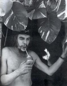 How revolutions begin. Che Guevara with mate.