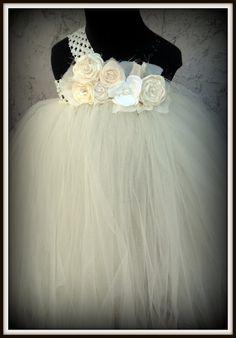 ivory flower girl tutu dress