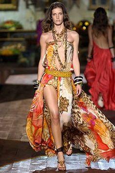 Roberto Cavalli Spring 2005 Ready-to-Wear Fashion Show - Diana Dondoe