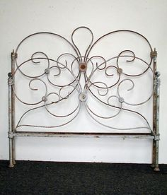 """Thin gauge """"fanciful"""" design for mid-1800's Very similar to Chloe's Bed... never realized how old it was"""