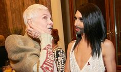 Conchita Wurst honoured to meet Vivienne Westwood at Red Ribbon event