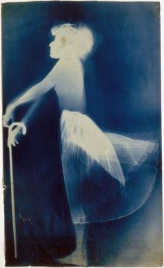 Robert Rauschenberg - Untitled (Sue), 1950, exposed blueprint paper