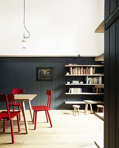 paint it out - colour blocking - red chairs - Ditchling Museum of Art + Craft