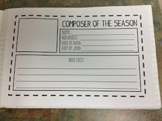 Music Notebook ideas- remember to try this! Music Notebook, Music Journal, Music Lesson Plans, Music Lessons, Music Classroom, Music Teachers, Classroom Ideas, Music Education Activities, Piano Teaching