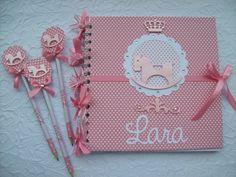 Querido Bebê - Kit Caderno De Mensagens + 30 lapis personalizados