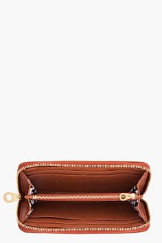MARC BY MARC JACOBS brown Classic Slim Zip Around