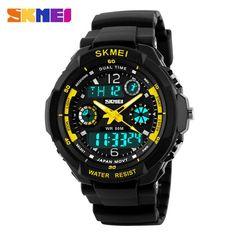Mens LED Digital Date Alarm Waterproof Rubber Sports Army Watch Wristwatch US