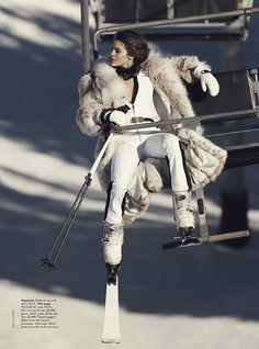 Winter Fashion and Winter Outfit Ideas. Let It Snow: Emily DiDonato by Benny Horne for Vogue Australia June 2014 ❄ Après Ski 'GLAM Apres Ski Mode, Apres Ski Party, Emily Didonato, Vogue Australia, Apres Ski Outfit, Apres Ski Fashion, Snow Fashion, Winter Fashion, Fur Fashion