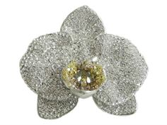 orcids in jewelry | orchid in crystal