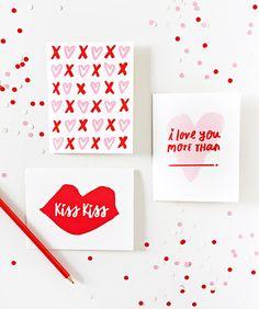 Printable Valentine's Day cards by LaurenConrad.com.