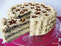 Polish Desserts, Polish Recipes, No Bake Desserts, Sweet Recipes, Cake Recipes, Dessert Recipes, Hungarian Cake, Torte Cake, Food Cakes