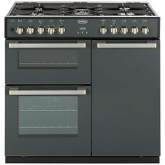 BuyBelling DB4 Deluxe 90DFT MF Dual Fuel Range Cooker, Anthracite Online at johnlewis.com