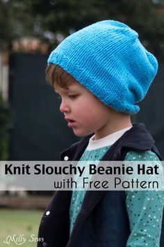 Knitting Patterns Beanie Hey y'all – today I've got a boy (or girl. Or baby, woman, man or kid) pattern for you – exc. Slouch Hat Knit Pattern, Beanie Knitting Patterns Free, Beanie Pattern Free, Knitting Blogs, Knitting For Kids, Free Pattern, Beginner Knitting, Knitting Projects, Motifs Beanie