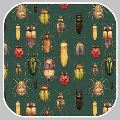 Insects groen tricot / stofbreedte 145 cm