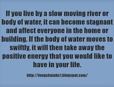 Water can have a big impact on our health and on our surroundings, too. http://fengshuiabc1.blogspot.com/