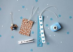 DIY gift tags using paper punches by giochi di carta.