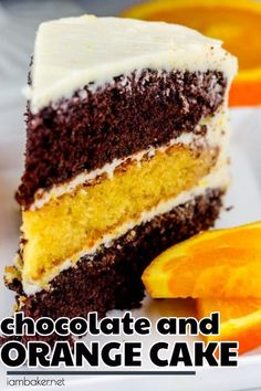 This Orange Cocoa Cake is layers of chocolate and orange cake frosted with a lightly flavored orange buttercream! This cake is surely a crowd pleaser! ~ I Am Baker (icing recipe with shortening) Köstliche Desserts, Holiday Desserts, Delicious Desserts, Dessert Recipes, Pie Dessert, Best Cake Recipes, Sweet Recipes, Cupcakes, Cupcake Cakes