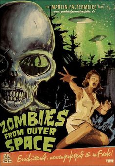 This old poster displays artwork typical of this era of b grade horror movie… Horror Movie Posters, Old Movie Posters, Classic Movie Posters, Classic Horror Movies, Cinema Posters, Vintage Posters, Retro Horror, Sci Fi Horror, Vintage Horror