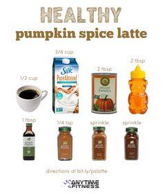 Recipe: Healthy Pumpkin Spice Latte Must try Coffee Recipes, Pumpkin Recipes, Fall Recipes, Holiday Recipes, Pumpkin Drinks, Starbucks Recipes, Starbucks Drinks, Starbucks Coffee, Yummy Drinks