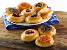 American Cakes: Kolache - Learn the history of Czech kolaches, then try a traditional recipe with fillings and posipka from food historian Gil Marks