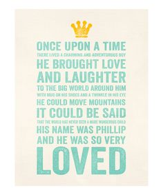 Blue 'Charming Adventurous Boy' Personalized Print | Daily deals for moms, babies and kids