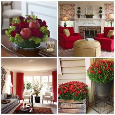 Bring red into your home gradually. Use drapes, flowers, or furniture to incorporate this bold color in your home.