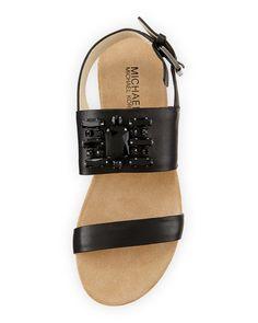 MICHAEL Michael Kors Luna Crystal Sandal, Black