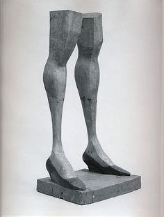 Jean's Legs II  Artist:Anne Arnold (American, born Melrose, Massachusetts 1925) Date:1965 Medium:Painted pine Dimensions:H. 39-3/4, W. 19, D. 15-3/4 inches (101 x 48.3 x 40 cm.) Classification:Sculpture