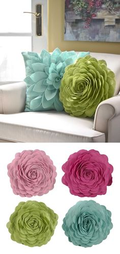 Petals Throw Pillows #mothersday