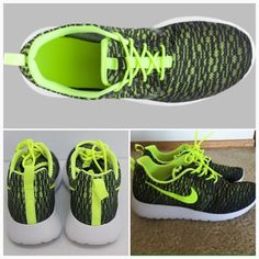 Nike Roshe one flight weight Brand new Nike Roshe One Flight Weight (GS) size 5.5 Youth but fits a size 7.5 in womens color volt/volt- black- faded olive. Box has no lid. Reasonable offers are considered. Nike Shoes Athletic Shoes