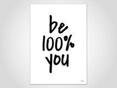 Kunstdruck Poster — Be 100% you von banum auf Etsy
