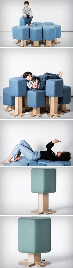 The Lift-Bit sofa is nothing short of magical. Designed by Carlo Ratti Associati and Opendot, and premiered at the Milan Design Week this year, it looks like an unsuspecting sofa, but has a vastly better user experience than any sofa you'll see. Just hover your hand above the cushion and the sofa height adjusts, moving up and down, based on where you move your hand.