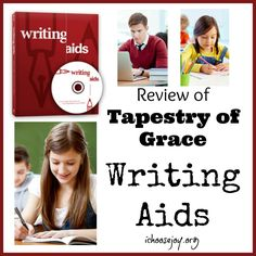 I'm excited to share with you today about a great writing curriculum from Tapestry of Grace called Writing Aids. Writing Aids is a comprehensive writing curriculum that can be used for grades It can be used alone, as a sup Homeschool Curriculum Reviews, Writing Curriculum, Homeschool High School, Homeschooling, Writing Resources, Tapestry Of Grace, Choose Joy, Lesson Plans, Middle School