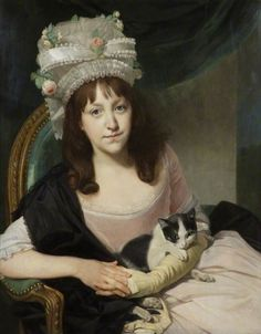 Johann Zoffany (German painter, active in England) Portrait of Sophia Dumergue about 1780 oil on canvas, 76 x cm © Victoria Art Gallery, Bath Victoria Art, Art Gallery, Cat People, Art Uk, Historical Costume, Your Paintings, Crazy Cat Lady, Cat Art, Female Art