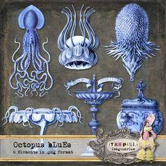 Deviant Scrap : itKuPiLLi Imagenarium Octopus bLuEs