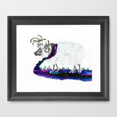 Warmth of the night Framed Art Print by bnwu - $34.00