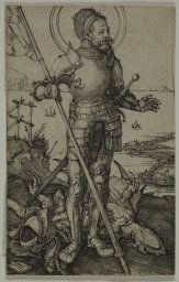 Albrecht Dürer German, 1471-1528  St. George on Foot, 1502  Engraving on ivory laid paper