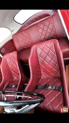 #VWKarmannGhiaAccessories Car Seat Upholstery, Automotive Upholstery, Volkswagen Karmann Ghia, Vw Rat Rod, Porsche, Car Furniture, Custom Car Interior, Vw Vintage, Mens Toys