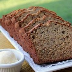 Banana Peanut Butter Bread - Allrecipes.com I increased the peanut butter to 3/4 cup. Decreased flour to 1 3/4 cup. And added 2 Tbsp of brown sugar. Made 12 muffins and baked them for 25 minutes. Perfect!